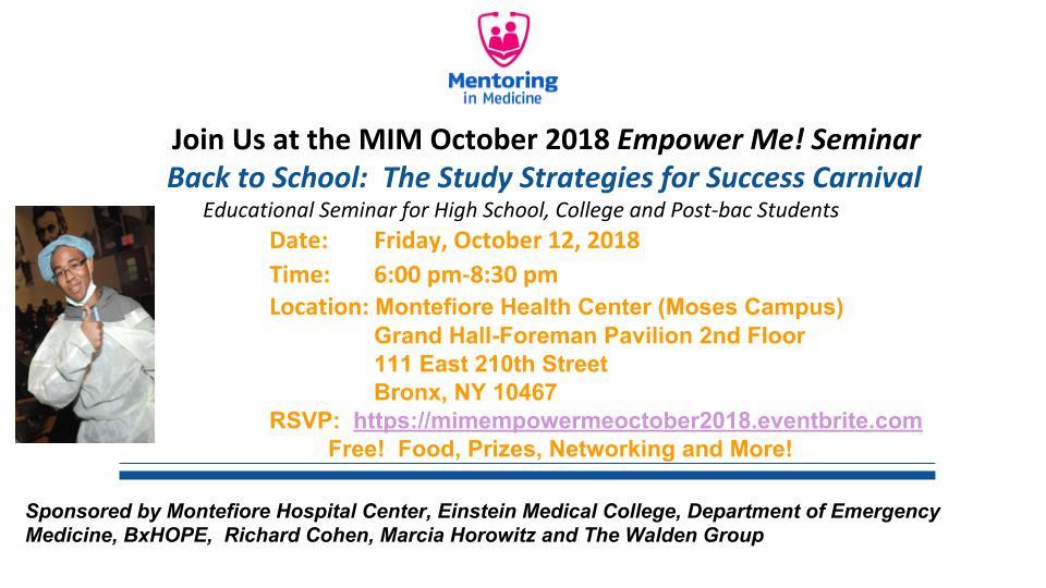 Upcoming Schedule - Mentoring in Medicine